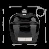 Kép 2/3 - Primo Oval 200 Junior - Beépíthető (kerámia grillsütő + hőelzáró lap és tartórács)
