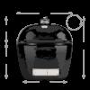 Kép 2/5 - Primo Oval 300 L         - Beépíthető (kerámia grillsütő + hőelzáró lap és tartórács)