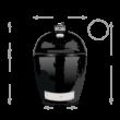 Primo Kamado/Round Keramik Grill - Made in USA, Ø 47 cm Large, deflektor kővel