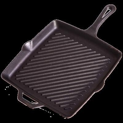 """Camp Chef 11"""" Szögletes Öntöttvas Serpenyő Bordázott  28 cm (SK11R)"""
