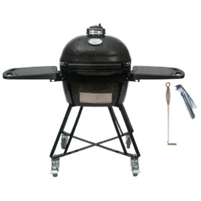 """Primo Oval 200 Junior """"All in One""""  Keramik Grill - Made in USA,  37 x 47 cm deflektor kővel"""