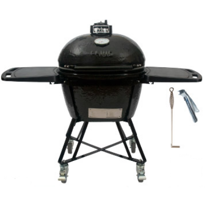 "Primo Oval 300 L ""All in One"" Keramik Grill - Made in USA,  38 x 56 cm deflektor kővel"
