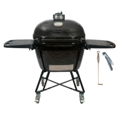 "Primo Oval 400 XL ""All in One"" Keramik Grill - Made in USA,  47 x 64 cm, deflektor kővel"