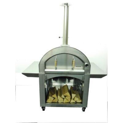 Heatseeker Steel Boy XL kültéri mobil kemence, pizzasütő.