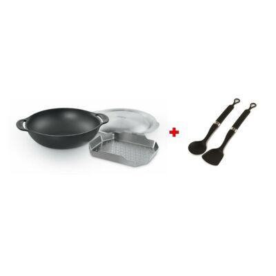 Weber Gourmet BBQ System Wok (betéttel és fedővel) ajándék wok eszközkészlettel