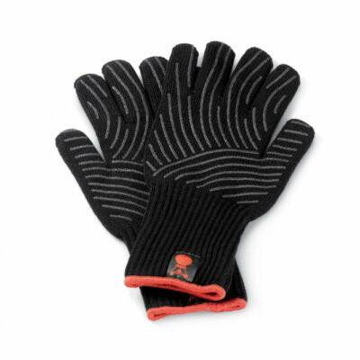 WEBER Grillkesztyű - kevlárból szettben, fekete, szilikonpöttyökkel S/M
