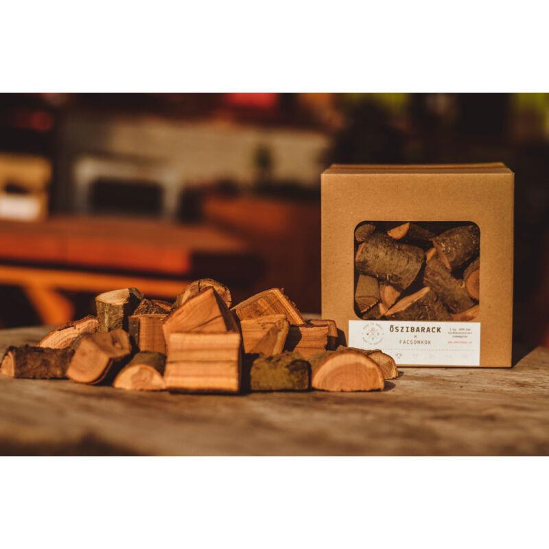 Wood2Smoke Őszibarack füstölőfa 1 kg