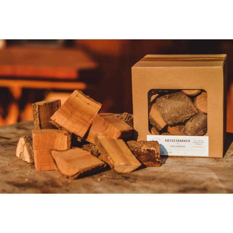 Wood2Smoke Kajszibarack füstölőfa 1 kg