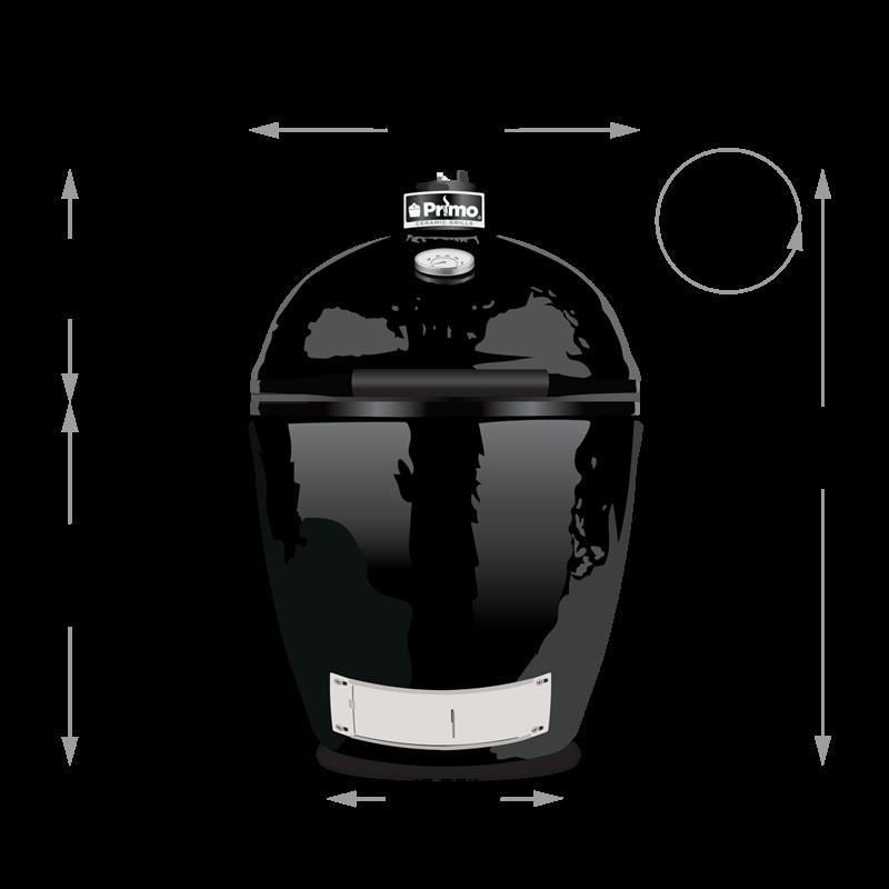 Primo Kamado Round  - All in One  (kerámia grillsütő + hőelzáró lap és tartórács + állvány + oldalpolcok + rácskimelő + hamuzó)