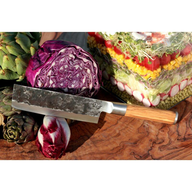 Forged oliva nyelű zöldségszeletelő kés díszdobozban