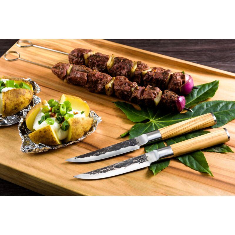 Forged oliva nyelű steak kés szett díszdobozban