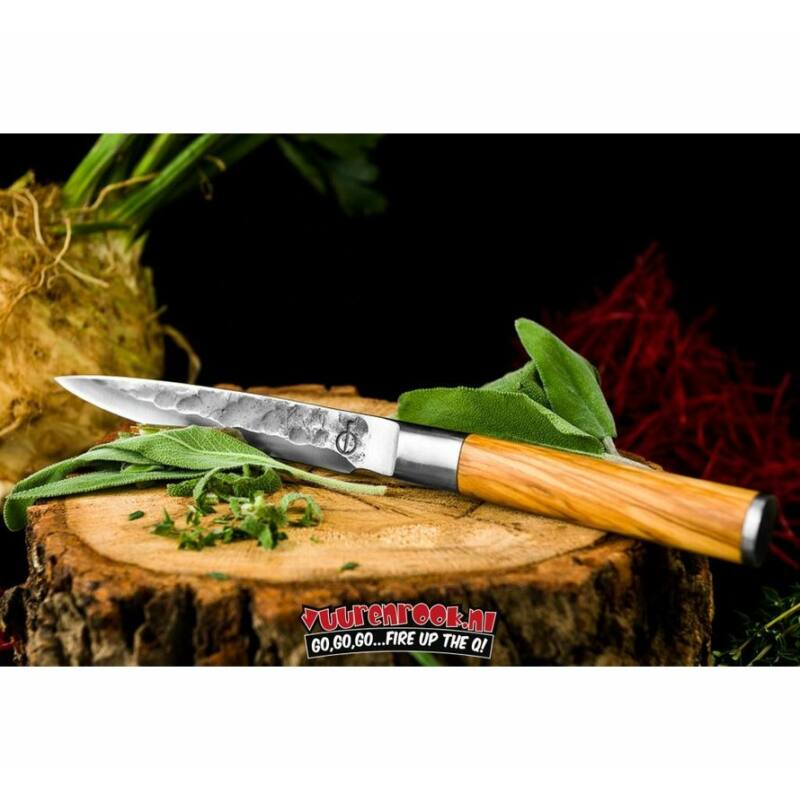 Forged oliva nyelű univerzális kés díszdobozban