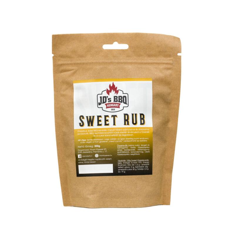 JD's BBQ Sweet Rub visszazárható tasakban 300 g