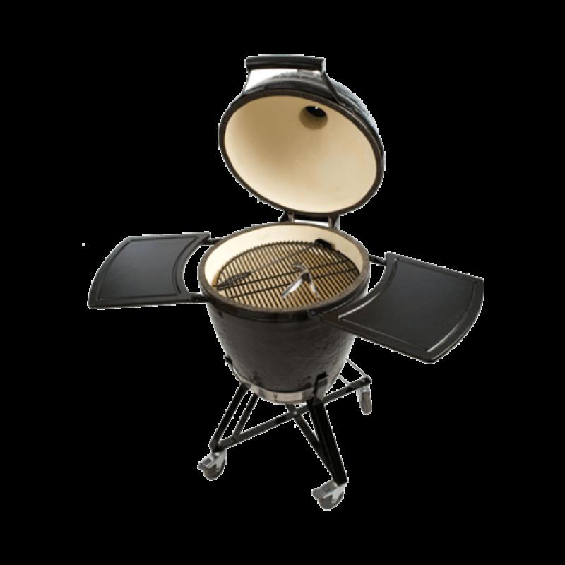 Primo Kamado Round  - All in One  2021 (kerámia grillsütő + hőelzáró lap és tartórács + állvány + oldalpolcok + rácskimelő + hamuzó)